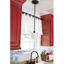 Industrial ajustável aço inoxidável tensão varas na cozinha