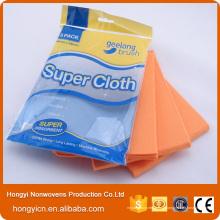 Chiffon de nettoyage de tissu non-tissé perforé par aiguille, serviette de nettoyage utilisée par cuisine
