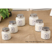 Customized Fragrance Scent Candles with White Color Glass Jar