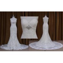 Ns7282 Оптовые Без Бретелек Кружева Аппликация Свадебное Платье 2016