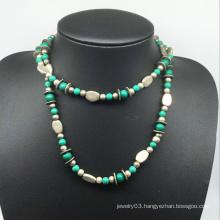 Nature Stone Alloy Beads Necklace (XJW13776)