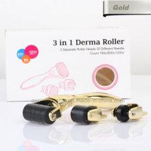 Gold 3 in 1 Derma Roller with Seprate Roller Head