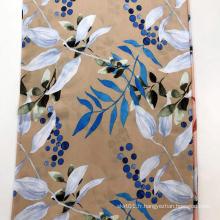 Tissu de sérigraphie en rayonne Leaf Design 45S