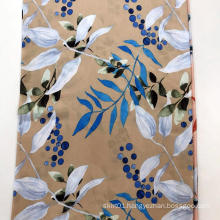 Leaf Design 45S Rayon Screen Printing Fabric