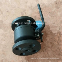A ANSI forjou a válvula de bola da extremidade da conexão da flange do aço carbono A105