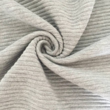 Jacquard 3D stripe grey melange fabric