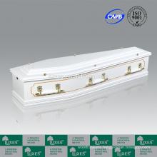 LUXES Australian Style MDF Board Coffins White Colored Coffin