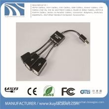 3 in 1 Micro USB OTG Hub Host Kabel Adapter Multi Kabel Für Samsung / Tablet