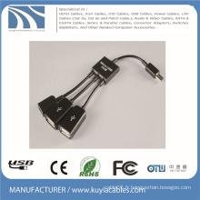 3 en 1 Micro USB OTG Hub Adaptateur de câble hôte multi-câble Pour Samsung / Tablette