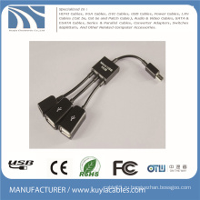 3 в 1 Micro USB OTG концентратор Host адаптера многоканальный кабель для Samsung / планшета