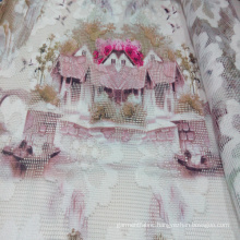 Polyester Printed Garment/ Home Textile Net Fabric