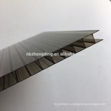 4мм/6мм/8мм/10мм/12мм цветные двойной слой полые поликарбонат солнце лист для парниковых