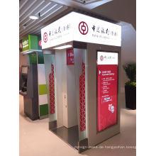 Oudoor Bank Automatischer Selbstbedienungs-ATM-Stand mit LED-Lichtkasten