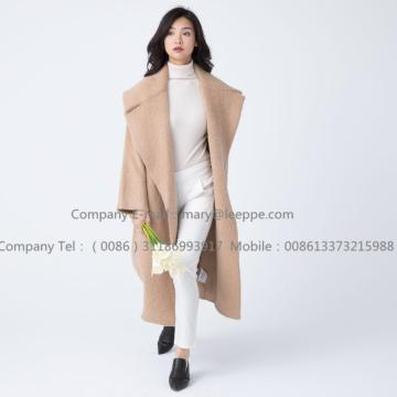 Lång Cashmere Coat With Mohair