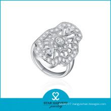 High Quality Rhodium Plated Brass Gemstone Rings