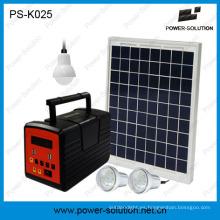 Sistema de luz de Panel Solar 10W para familia con bombilla LED y reproductor de MP3