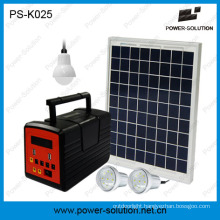 10W Solar Panel Light System for Family with LED Bulb and MP3 Player