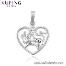 Los animales de la moda de color rodio 33389 forman un colgante del zodiaco chino de la serie 12