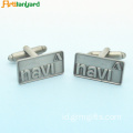 Customized Engraved Gold Metal Cufflinks