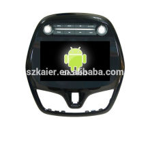 Quad core 4.4 Android dvd del coche con espejo enlace / DVR / TPMS / OBD2 para 9 pulgadas pantalla táctil completa 4.4 sistema Android Chevrolet Spark