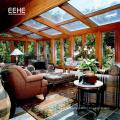 Sunroom en verre trempé à économie d'énergie en verre isolé Sunroom