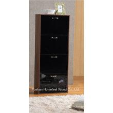 Cabinet de chaussure en bois brillant moderne à 4 tiroirs (XE41)
