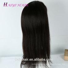 Großhandelspreis Raw Virgin Unverarbeitete Brasilianische Gerade Perücken Menschliches Haar Volle Spitze Perücke Mit Clips