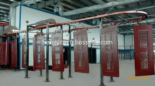 Wooden door electrostatic painting equipment
