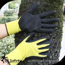 SRSAFETY 13Gauge nitrile gloves knitted sandy finish coating material nitrile glove