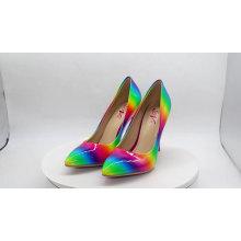 2020 women party escarpins rainbow sexy shiny valentine wedding cute stilettos pumps high heel heels dress shoes