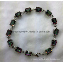 Moda pulseira de joias de prata Topázio místico (BR0042)