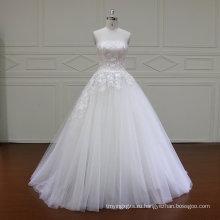 Пояс вышитый бисером-линии V-образным вырезом свадебное платье свадебное платье (XF16030)