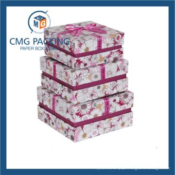 Flower Printing Cardboard Paper Box