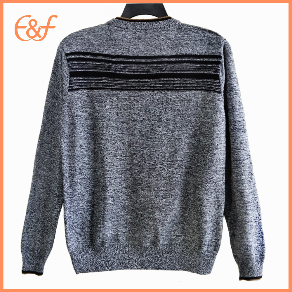 Basic Style Jumper Pure Color Pullover Autumn Winter Men Sweater