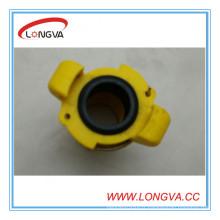 Coulping jaune de 3/4 po 110 mm avec joint d'étanchéité EPDM