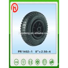 8''*2.50-4 rubber wheel /pneumatic wheel ,lug pattern