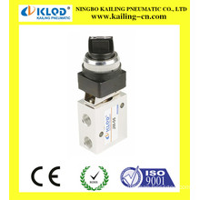 Push button mechanical valve