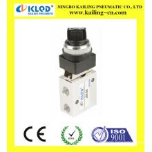 Push button mechanical valve