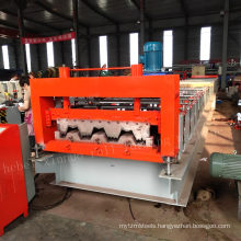 China supplier economic and durable auto colored steel metal slab wall panel board floor deck tile rolling making machine
