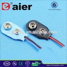 Daier DCK1 9V I tipo titular de la batería de plástico con cables de 150 mm