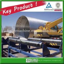 Máquina de tubos sem ponta em concreto