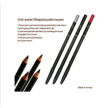 Lápiz largo impermeable de la ceja del eyeliner para el maquillaje permanente