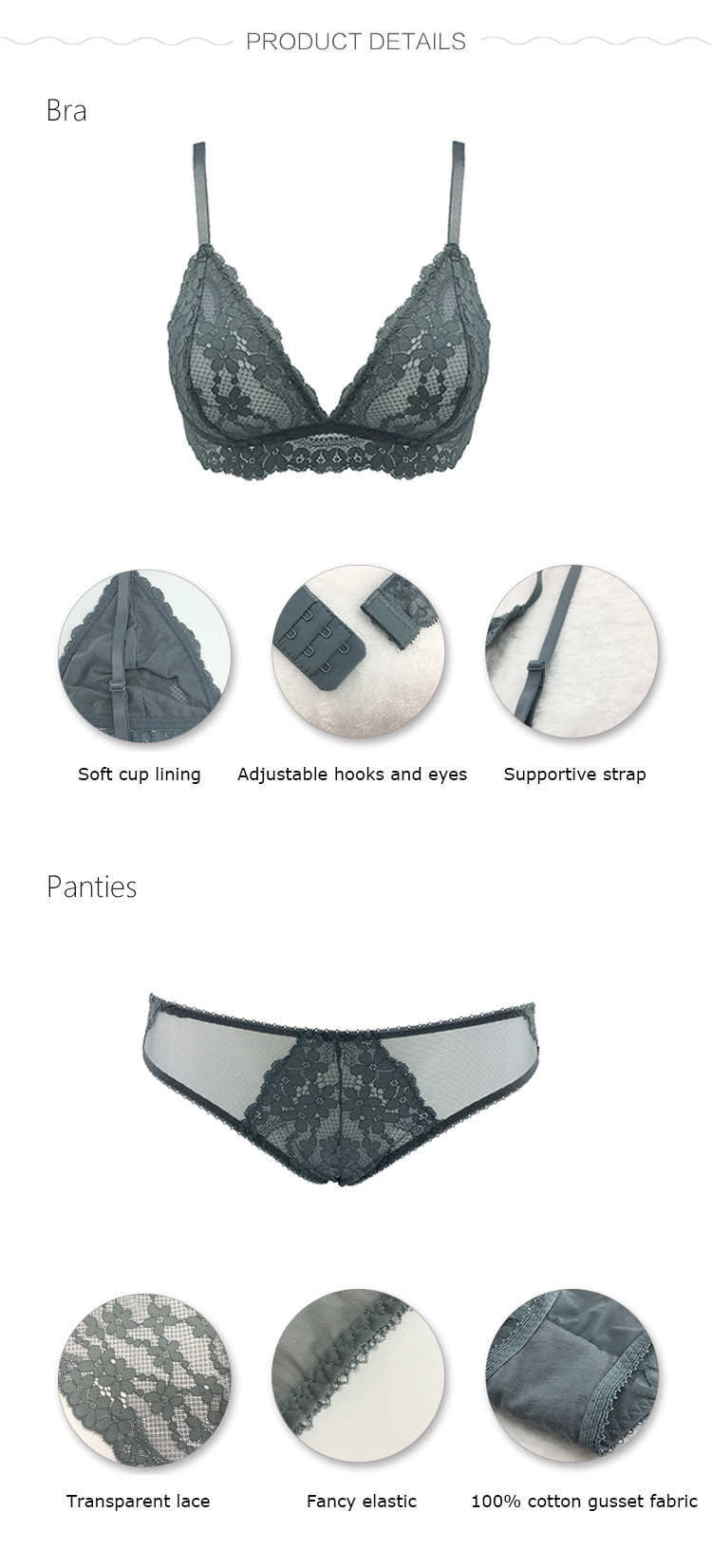Women lingerie set-product detail