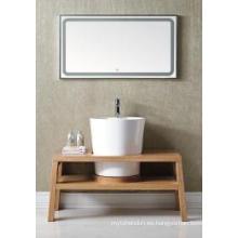 Gabinete de baño moderno reflejado gabinete principal de madera uno (JN-8814199A)