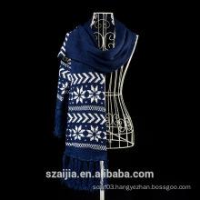Fashion winter keep warm double- deck jacquard scarf