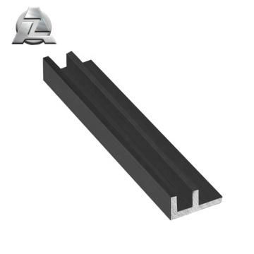 aluminium black powder coated superior f channel profile