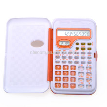 scientific calculator with clock and flip cover