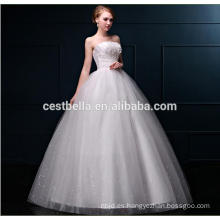 Vestido de bola más el vestido de boda del cordón del tamaño más los patrones del vestido de boda del tamaño