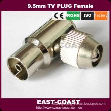 90degree Right Angle type 9.5mm tv plug female