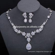 fashionable imitation jewelry fashion wedding bridal jewellery 18k gold diamond jewelry sets